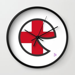 England Smile Wall Clock