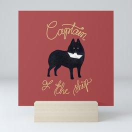 Captain Schipperke (Red and Beige) Mini Art Print
