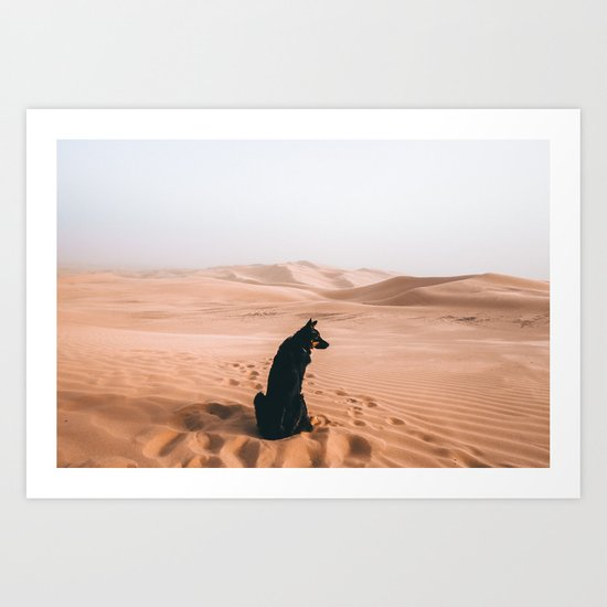 Find your way back home | Imperial Sand Dunes, California Art Print