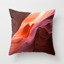The Waves of Antelope Canyon Throw Pillow