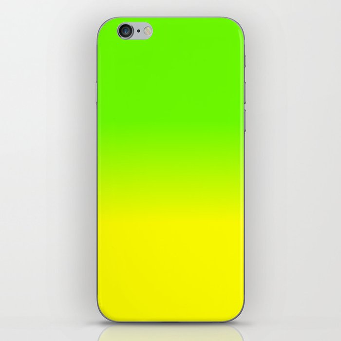 Neon Green and Neon Yellow Ombré  Shade Color Fade iPhone Skin