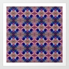 Blue Criss Cross Art Print
