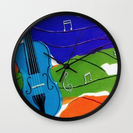Waves of Music Wall Clock