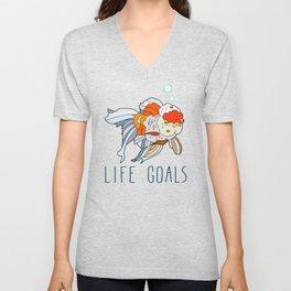 Life Goals Unisex V-Neck