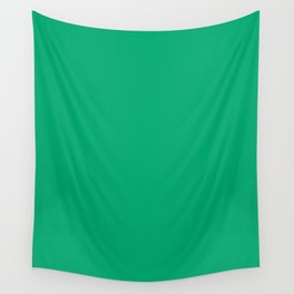 Sesame Street Green - solid color Wall Tapestry