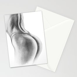Woman Painting | Nude Illustration | Human Art | Female | Stationery Cards