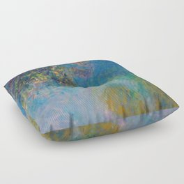 Wisteria by Claude Monet Floor Pillow