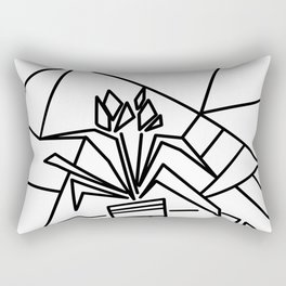 Flowers on the window -coloring Rectangular Pillow