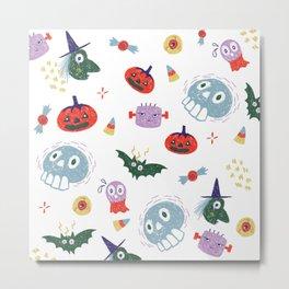 Spooky Halloween Pattern Metal Print