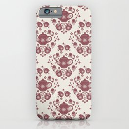 Afternoon Tea Damask iPhone Case
