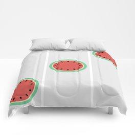 Watermelon Clock Triptych Comforters