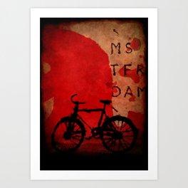 Amsterdam city poster  Art Print