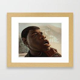 """John Boyega """"Finn"""" Caricature Framed Art Print"""