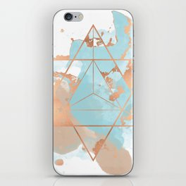 Transforming Within - Copper Rose Gold iPhone Skin
