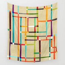 The map (after Mondrian) Wall Tapestry