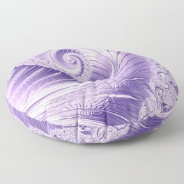 Ultra Violet Luxe Spiral Pattern | Trendy Color of the Year 2018 Floor Pillow