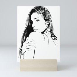 sexy girl illustration Mini Art Print