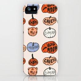 Types of Pumpkins Print iPhone Case