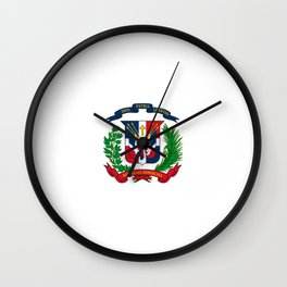 seal of the dominican republic-dominican,hispaniola,dominicana,antilles,caribean,santo domingo Wall Clock
