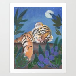 What Does the Tiger Dream? Art Print