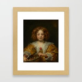 Jacob Jordaens, Portrait of a young girl, possibly the artist's younger daughter, Anna Framed Art Print