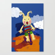 Scooter riding Canvas Print