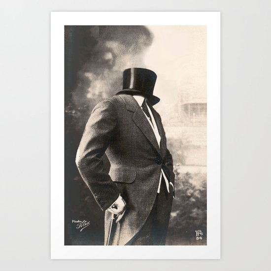 Even the Invisible Man has his sundays (2013) Art Print