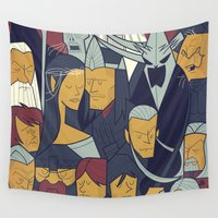 return Wall Tapestries featuring The Return of the King by Ale Giorgini