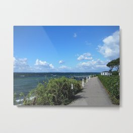 Picturesque Danish Coast Metal Print