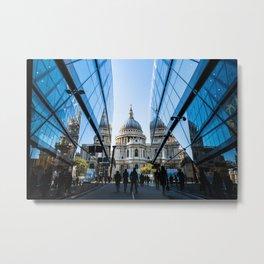 London City Blue Metal Print