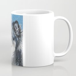 Finnish Lapphund dog portrait art from an original painting by L.A.Shepard Coffee Mug