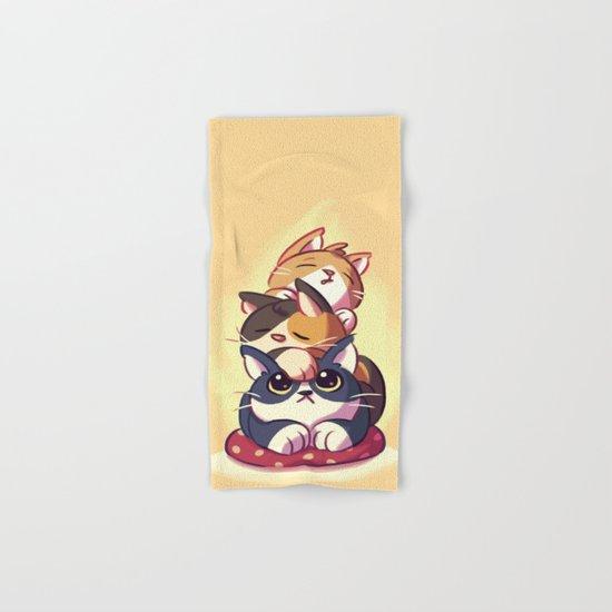 Cat Stack Doodle Hand & Bath Towel