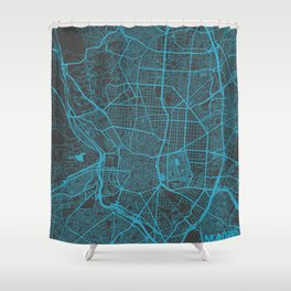 Madrid map Shower Curtain