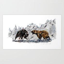 Bull and Bear Art Print