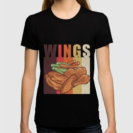 Vintage Chicken Wing Lover print, Funny Novelty Retro Tee T-shirt