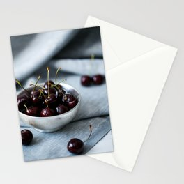 Bowl of Sweet Cherries Stationery Cards