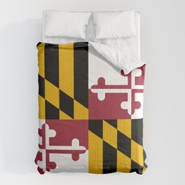 Maryland state flag Comforters