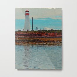 Lighthouse Travels in Time Metal Print