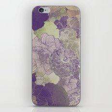 Aubergine Floral Hues iPhone & iPod Skin
