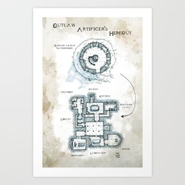 The Outlaw Artificers' Hideout Art Print