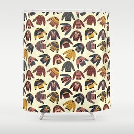 Christmas Holidays Ugly Sweaters Shower Curtain