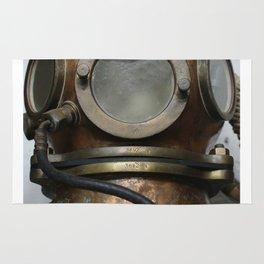 Antique vintage metal underwater diving helmet Rug