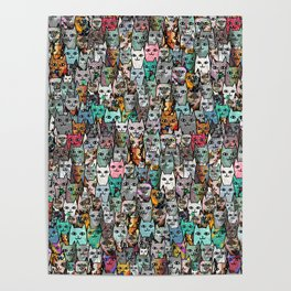 Gemstone Cats Poster