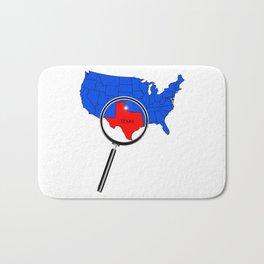 Texas Map Bath Mat