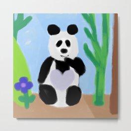 It's A Panda's World of Love 2 Metal Print