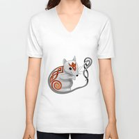 mouse V-neck T-shirts featuring Mouse by Knot Your World