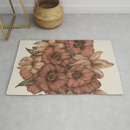Poppies and Lilies Rug