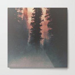 Smokey Forest Metal Print