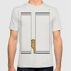 curious Mens Fitted Tee Silver SMALL