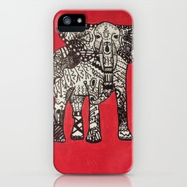 Boho Elephant iPhone Case